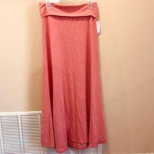 NWT! LulaRoe Heathered Pink Maxi Skirt Size Medium